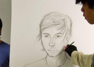 Portrait Zeichnen Berufskolleg Grafik-Design